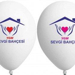 Çift Yüze İki Renk Baskılı Balon