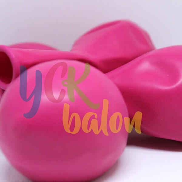 12 inç Koyu Pembe Dış Mekan Dekorasyon Balonu
