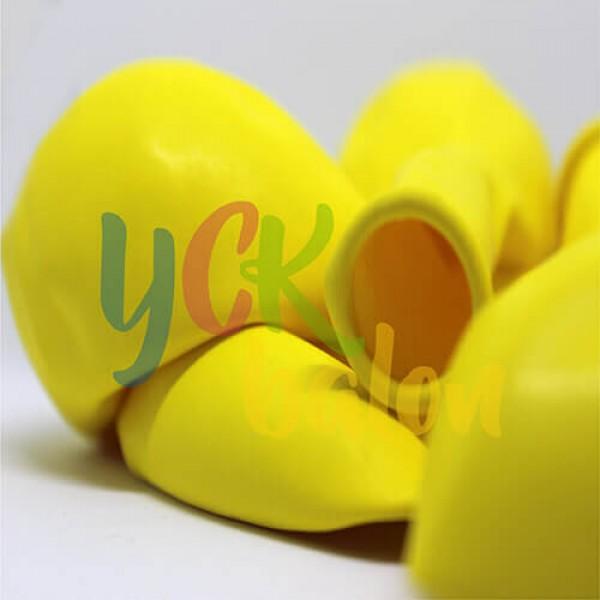 12 inç Sarı İç Mekan Dekorasyon Balonu