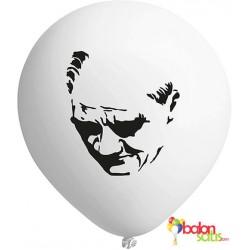 Atatürk Silüeti Baskılı Balon 01