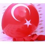 Türk Bayrağı Ay Yıldız Baskılı Balon