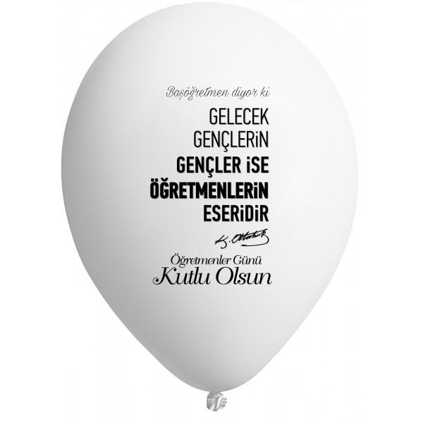 Öğretmenler Günü içinHazır Baskılı Balon Seçenekleri