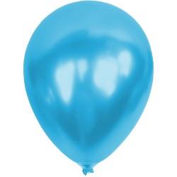 Baskısız Açık Mavi Metalik Dekorasyon Balonu