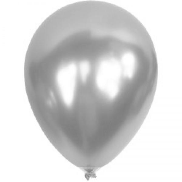 Baskısız Gümüş Metalik Dekorasyon Balonu