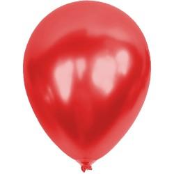 Baskısız Kırmızı Metalik Dekorasyon Balonu