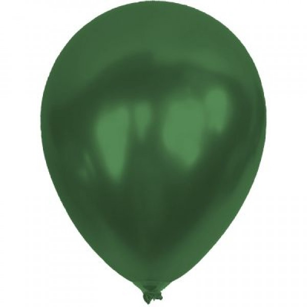 Baskısız Koyu Yeşil Metalik Dekorasyon Balonu