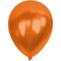 Baskısız Turuncu Metalik Dekorasyon Balonu