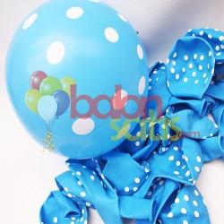 Beyaz Puantiyeli Balon